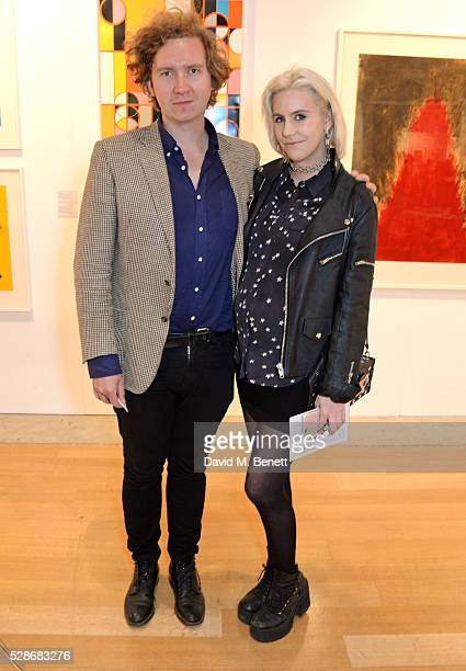 Hugh Harris and India Rose James attend The London Original Print Fair young collector's evening at The Royal Academy of Arts on May 6 2016 in London...