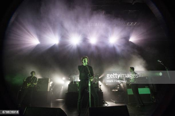 Hugh Harris Luke Pritchard and Peter Denton of The Kooks perform at O2 Guildhall on May 4 2017 in Southampton England