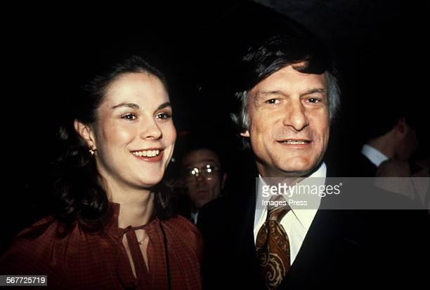 Hugh Hefner and daughter Christie Hefner circa 1982 in New York City
