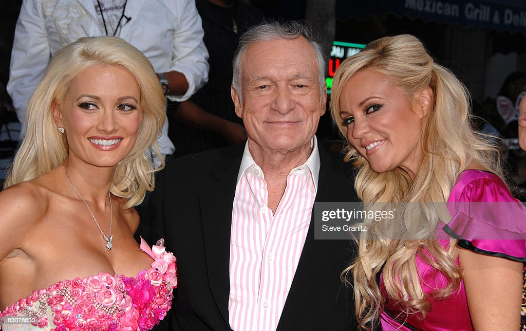 Hugh Hefner arrives at Sony Pictures' Premiere of 'House Bunny' at the Mann Village Theatre on August 14, 2008 in Los Angeles, California.