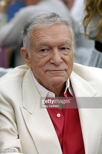 Hugh Hefner attends the 2008 Playmate Of The Year presentation at the Playboy Mansion on May 8 in Beverly Hills California