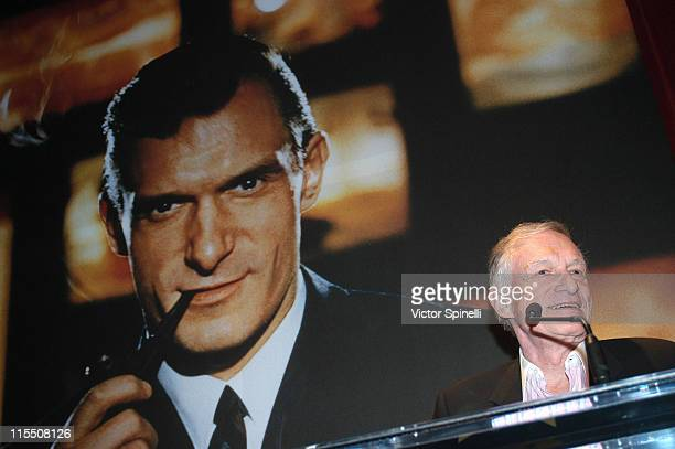 Hugh Hefner during Hugh Hefner and International Images Launch the Playboy Legacy Collection at Republic at Republic in Los Angeles California United...