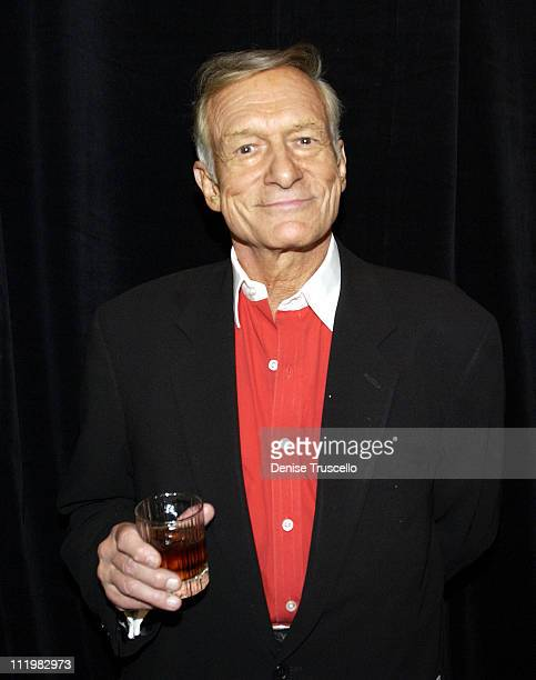 Hugh Hefner during The Palms Casino Celebrates Playboy's 50th Anniversary at The Palms Casino Resort in Las Vegas Nevada