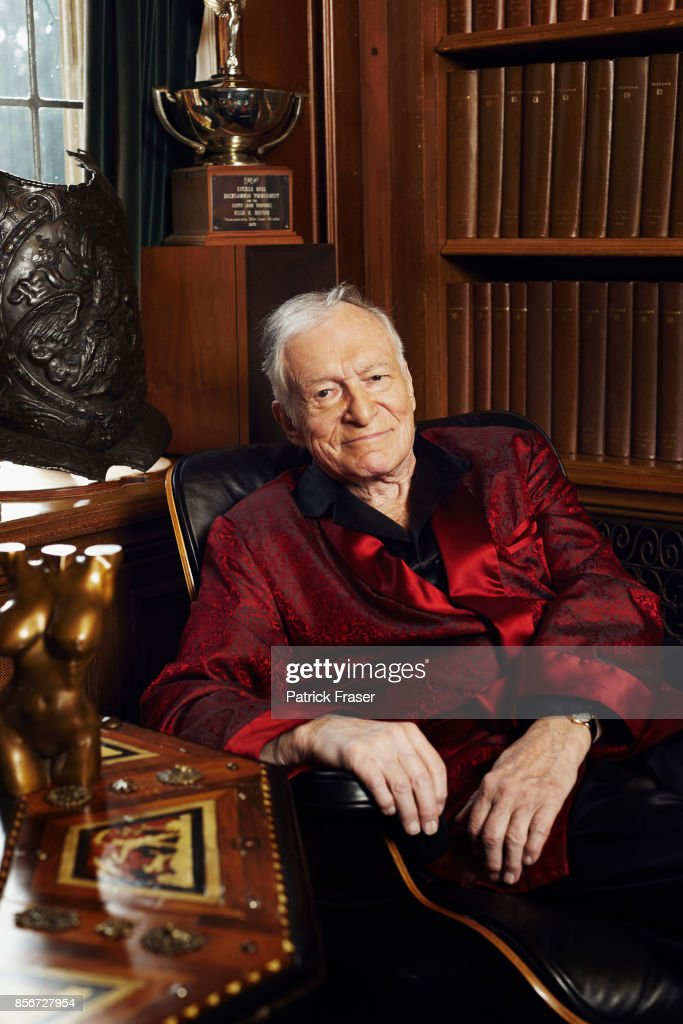 Hugh Hefner is photographed at the iconic Playboy Mansion for Sunday Times on February 20, 2011 in Los Angeles, California.