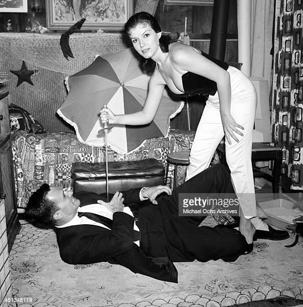 Hugh Hefner with Joan Bradshaw at a Play Boy Party in Los Angeles California