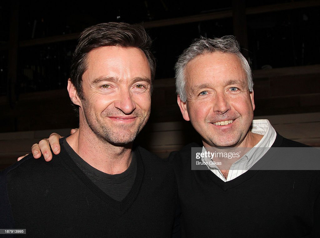 <a gi-track='captionPersonalityLinkClicked' href=/galleries/search?phrase=Hugh+Jackman&family=editorial&specificpeople=202499 ng-click='$event.stopPropagation()'>Hugh Jackman</a> and Associate Choreographer Chris Peterson pose backstage at 'Big Fish' on Broadway at The Neil Simon Theater on November 13, 2013 in New York City.