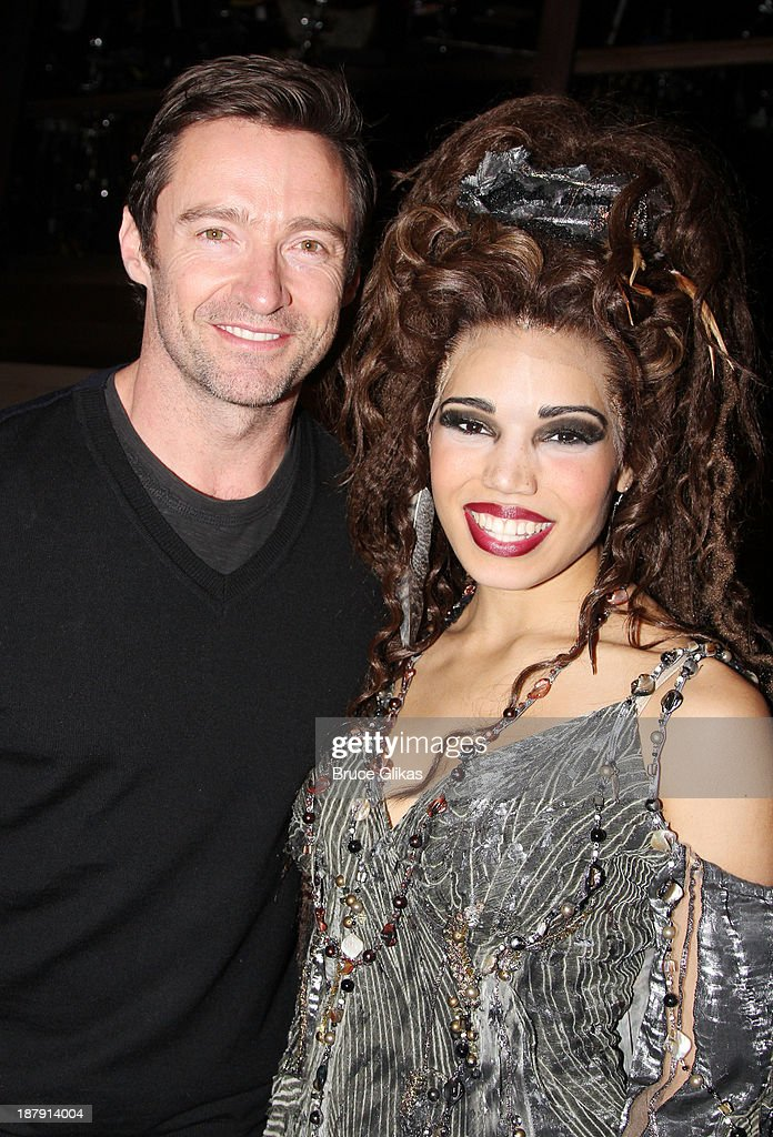 <a gi-track='captionPersonalityLinkClicked' href=/galleries/search?phrase=Hugh+Jackman&family=editorial&specificpeople=202499 ng-click='$event.stopPropagation()'>Hugh Jackman</a> and Ciara Renee pose backstage at 'Big Fish' on Broadway at The Neil Simon Theater on November 13, 2013 in New York City.