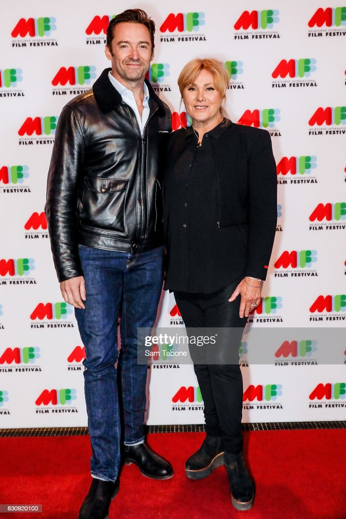 Hugh Jackman and Deborra Lee Furness arrives ahead of a screening of Shame as part of the 66th Melbourne International Film Festival on August 13, 2017 in Melbourne, Australia.