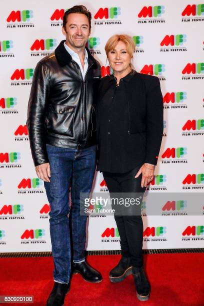 Hugh Jackman and Deborra Lee Furness arrives ahead of a screening of Shame as part of the 66th Melbourne International Film Festival on August 13...