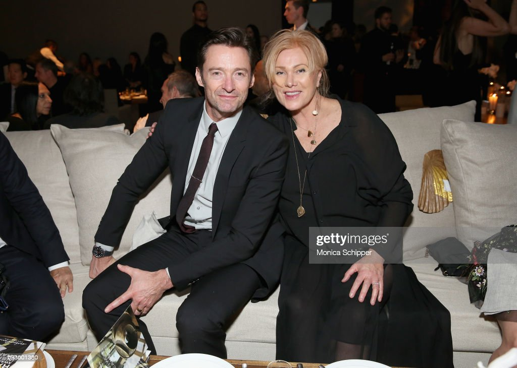 Hugh Jackman and Deborra-Lee Furness attend the 2017 Stephan Weiss Apple Awards on June 7, 2017 in New York City.