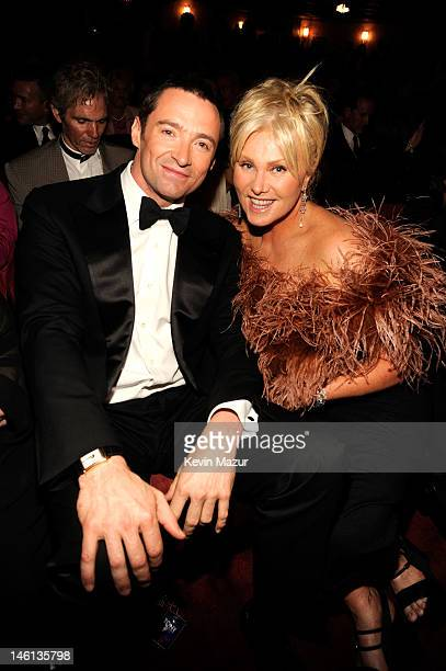 Hugh Jackman and DeborraLee Furness attend the 66th Annual Tony Awards at The Beacon Theatre on June 10 2012 in New York City