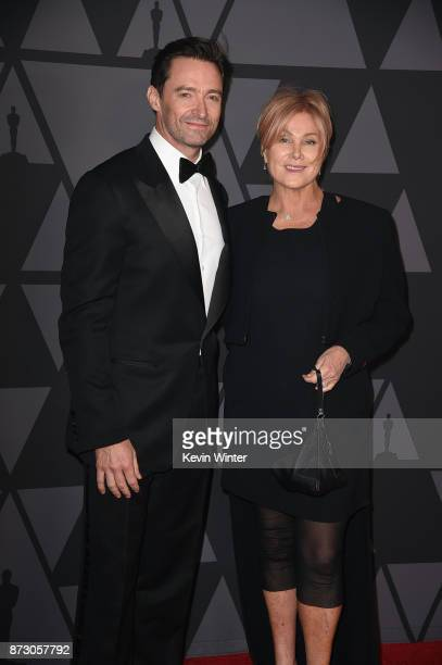 Hugh Jackman and Deborralee Furness attend the Academy of Motion Picture Arts and Sciences' 9th Annual Governors Awards at The Ray Dolby Ballroom at...