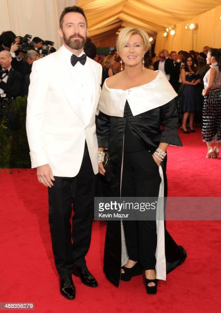 Hugh Jackman and DeborraLee Furness attend the 'Charles James Beyond Fashion' Costume Institute Gala at the Metropolitan Museum of Art on May 5 2014...