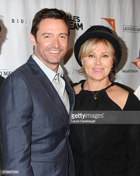Hugh Jackman and DeborraLee Furness attend the 'Dukale's Dream' New York special screening at SVA Theater on June 4 2015 in New York City