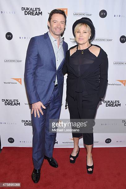 Hugh Jackman and DeborraLee Furness attend the New York special screening of 'Dukale's Dream' at SVA Theater on June 4 2015 in New York City