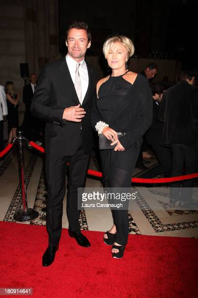 Hugh Jackman and DeborraLee Furness attend the New Yorkers For Children Presents 14th Annual Fall Gala at Cipriani 42nd Street on September 17 2013...