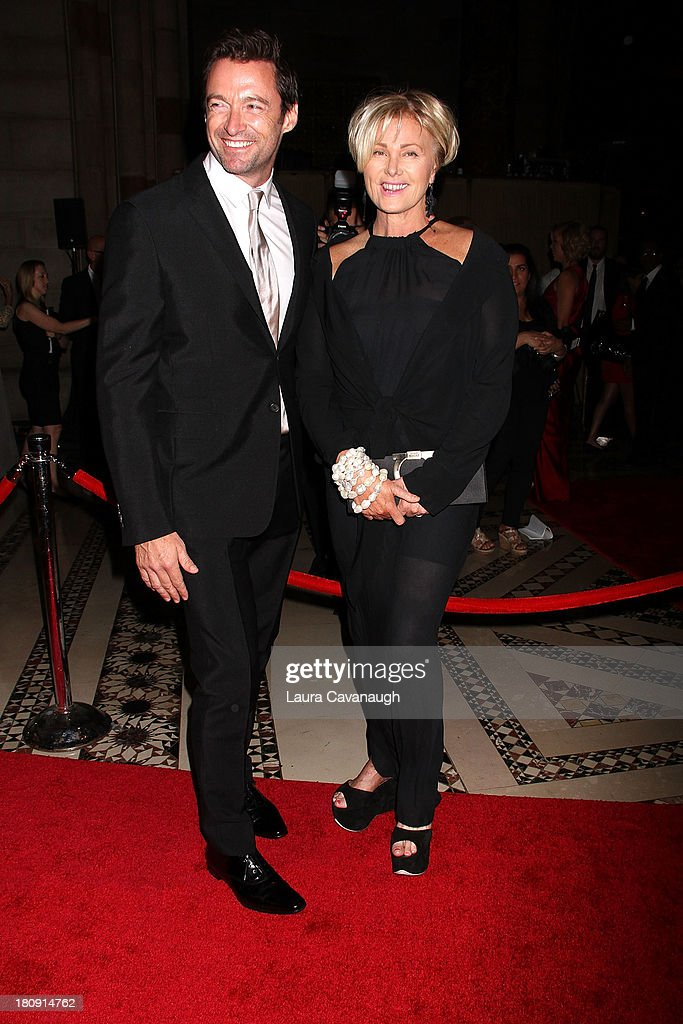 Hugh Jackman and Deborra-Lee Furness attend the New Yorkers For Children Presents 14th Annual Fall Gala at Cipriani 42nd Street on September 17, 2013 in New York City.