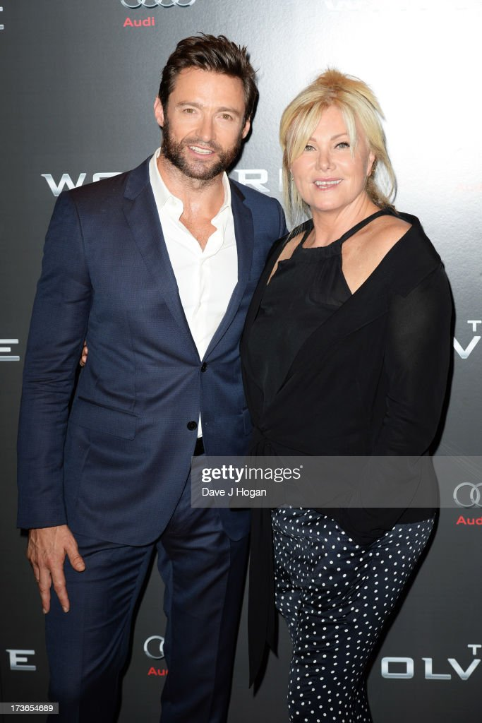 Hugh Jackman and Deborra-Lee Furness attend the UK premiere of 'The Wolverine' at The Empire Leicester Square on July 16, 2013 in London, England.