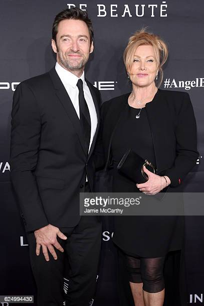 Hugh Jackman and DeborraLee Furness attends the 2016 Angel Ball hosted by Gabrielle's Angel Foundation For Cancer Research on November 21 2016 in New...
