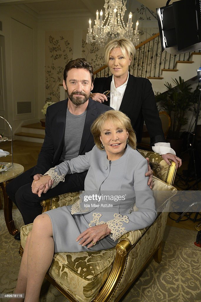 THE VIEW - Hugh Jackman and his wife Deborra-Lee Furness swap places with Barbara Walters as they interview her for a segment of THE VIEW airing Tuesday, May 13, 2014 on the ABC Television Network.