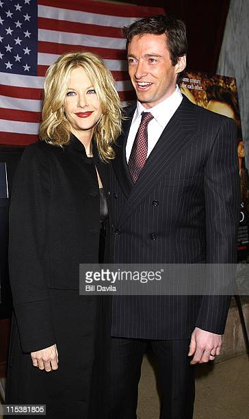 Hugh Jackman and Meg Ryan during New York Premiere of 'Kate Leopold' at The Clearview Beekman Theater in New York City New York United States