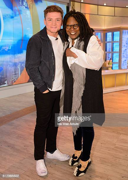 THE VIEW Hugh Jackman and Taron Egerton talk about their new film 'Eddie the Eagle' on 'THE VIEW' airing THURSDAY FEB 25 on the ABC Television Network
