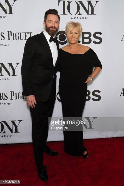 Hugh Jackman and wife DeborraLee Furness attend the American Theatre Wing's 68th Annual Tony Awards at Radio City Music Hall on June 8 2014 in New...