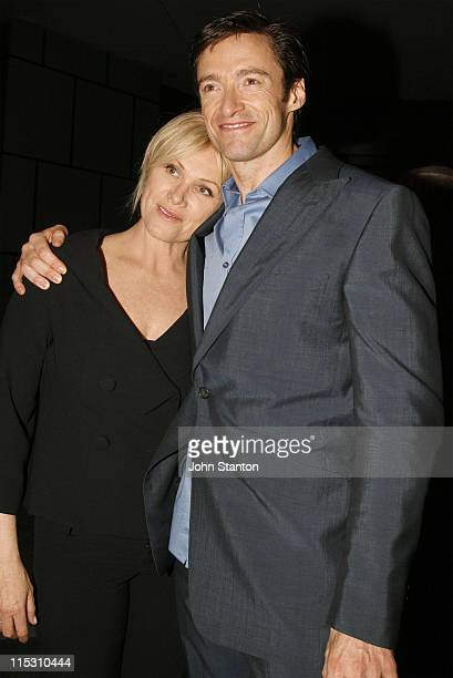 Hugh Jackman and wife DeborraLee Furness during 'The Boy from Oz' Sydney Premiere Afterparty at Entertainment Centre in Sydney NSW Australia