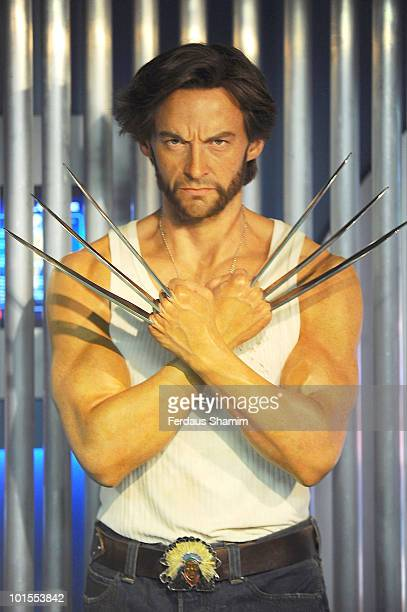 Hugh Jackman as Wolverine new attraction at Madame Tussauds of Marvel Super Heroes Tussauds on June 2 2010 in London England