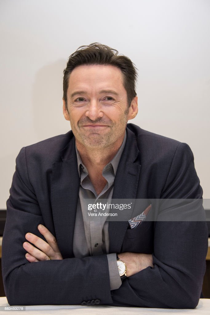 Hugh Jackman at 'The Greatest Showman' Press Conference at the Four Seasons Hotel on November 28, 2017 in Beverly Hills, California.