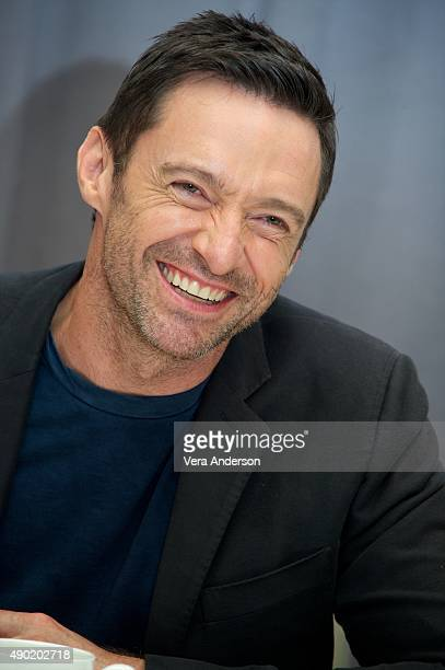 Hugh Jackman at the 'Pan' Press Conference at the Conrad New York on September 25 2015 in New York City
