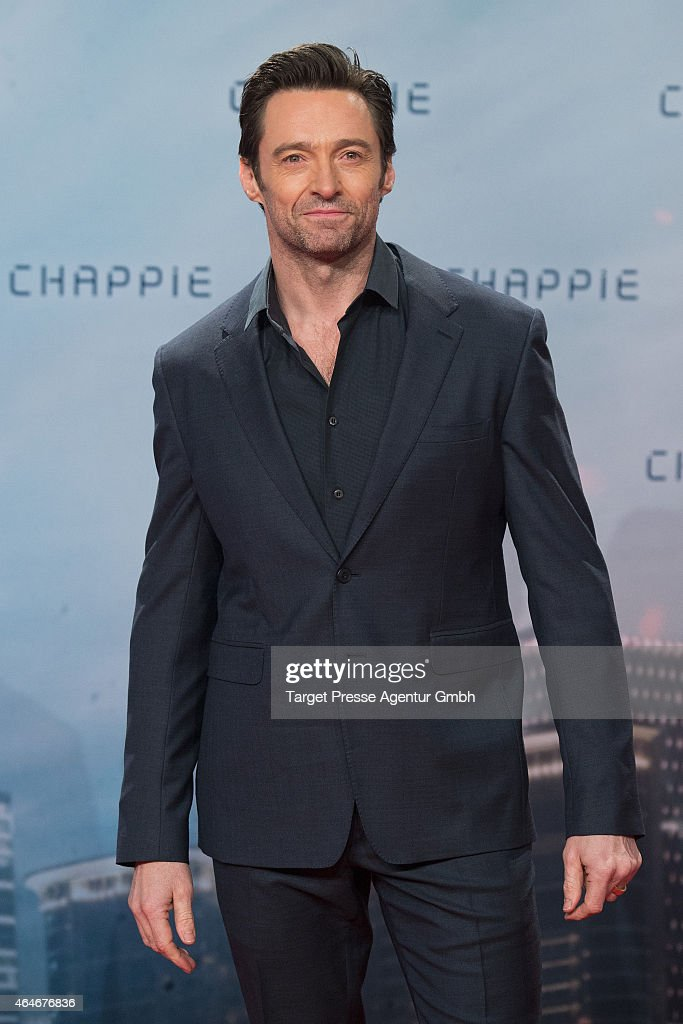 <a gi-track='captionPersonalityLinkClicked' href=/galleries/search?phrase=Hugh+Jackman&family=editorial&specificpeople=202499 ng-click='$event.stopPropagation()'>Hugh Jackman</a> attends a fan event for the film 'CHAPPIE' at Mall of Berlin on February 27, 2015 in Berlin, Germany.