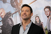 Hugh Jackman attends 'Pan' premiere at Ziegfeld Theater on October 4 2015 in New York City