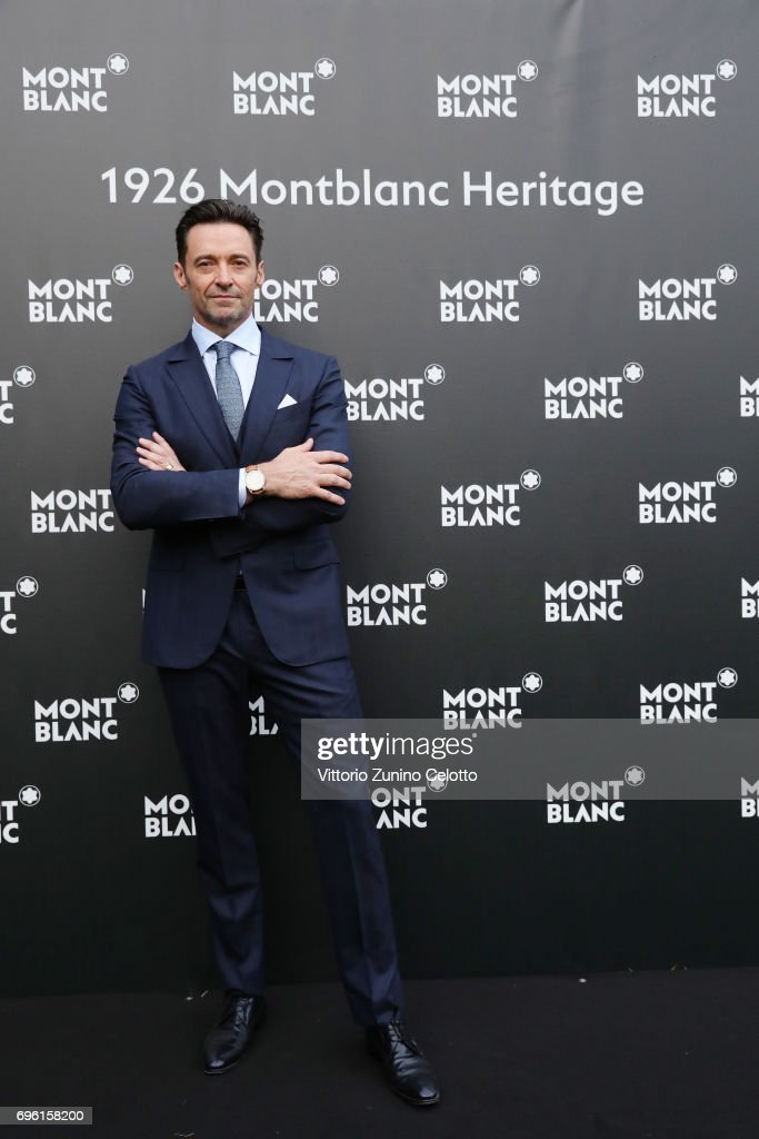 Hugh Jackman attends the '1926 Montblanc Heritage Launch event' on June 14, 2017 in Florence, Italy.