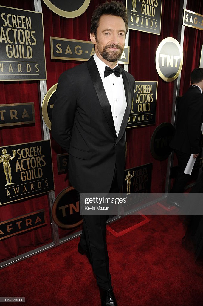 Hugh Jackman attends the 19th Annual Screen Actors Guild Awards at The Shrine Auditorium on January 27, 2013 in Los Angeles, California. (Photo by Kevin Mazur/WireImage) 23116_016_0890.jpg