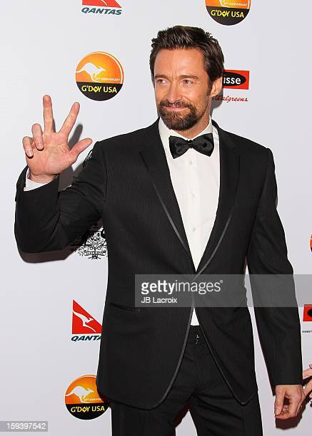 Hugh Jackman attends the 2013 G'Day USA Black Tie Gala at JW Marriott Los Angeles at LA LIVE on January 12 2013 in Los Angeles California