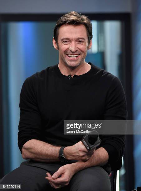 Hugh Jackman attends the Build Series Presents Hugh Jackman And Patrick Stewart Discussing 'Logan' at Build Studio on March 2 2017 in New York City