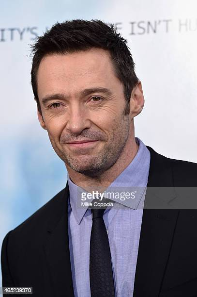 Hugh Jackman attends the 'Chappie' New York Premiere at AMC Lincoln Square Theater on March 4 2015 in New York City