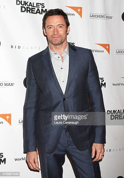 Hugh Jackman attends the 'Dukale's Dream' New York special screening at SVA Theater on June 4 2015 in New York City