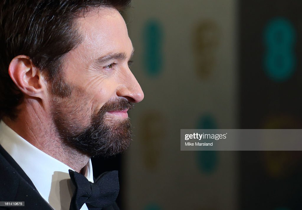 Hugh Jackman attends the EE British Academy Film Awards at The Royal Opera House on February 10, 2013 in London, England.