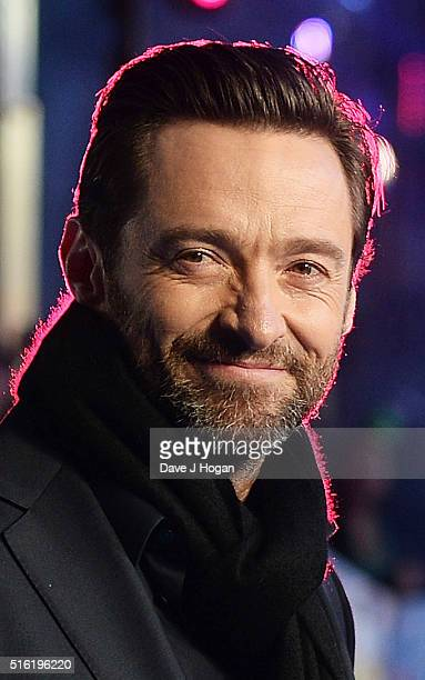 Hugh Jackman attends the European premiere of 'Eddie The Eagle' at Odeon Leicester Square on March 17 2016 in London England