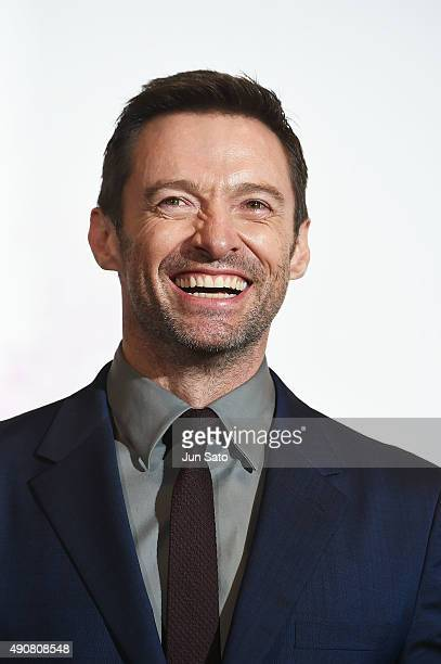 Hugh Jackman attends the Japan Premiere of 'Pan' at the Roppongi Hills on October 1 2015 in Tokyo Japan