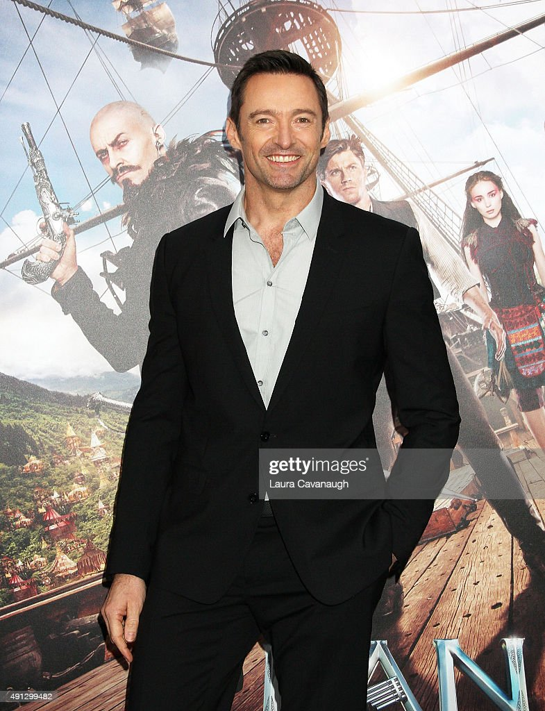 Hugh Jackman attends the 'Pan' New York Premiere - Outside Arrivals at Ziegfeld Theater on October 4, 2015 in New York City.