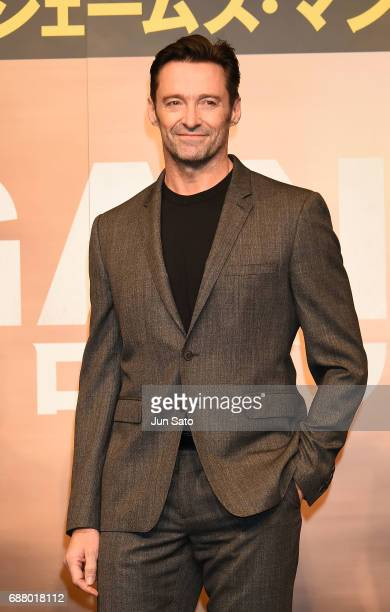 Hugh Jackman attends the press conference for 'Logan' at The Peninsula Tokyo on May 25 2017 in Tokyo Japan