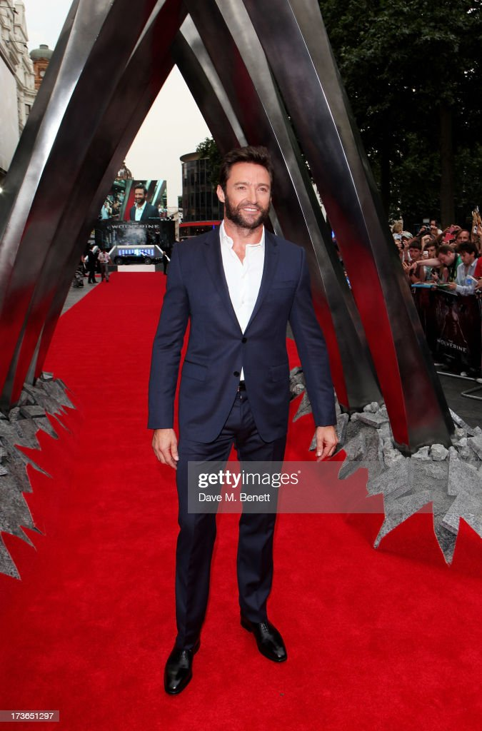 <a gi-track='captionPersonalityLinkClicked' href=/galleries/search?phrase=Hugh+Jackman&family=editorial&specificpeople=202499 ng-click='$event.stopPropagation()'>Hugh Jackman</a> attends the UK Premiere of 'The Wolverine' at Empire Leicester Square on July 16, 2013 in London, England.
