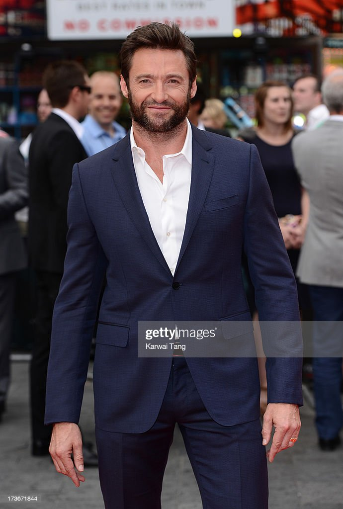 Hugh Jackman attends the UK premiere of 'The Wolverine' at Empire Leicester Square on July 16, 2013 in London, England.