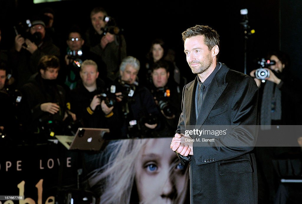 Hugh Jackman attends the World Premiere of 'Les Miserables' at Odeon Leicester Square on December 5, 2012 in London, England.