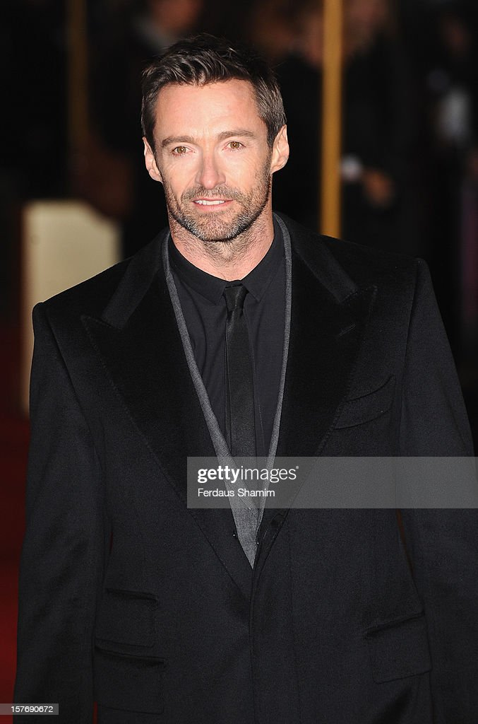 <a gi-track='captionPersonalityLinkClicked' href=/galleries/search?phrase=Hugh+Jackman&family=editorial&specificpeople=202499 ng-click='$event.stopPropagation()'>Hugh Jackman</a> attends the World Premiere of 'Les Miserables' at Odeon Leicester Square on December 5, 2012 in London, England.
