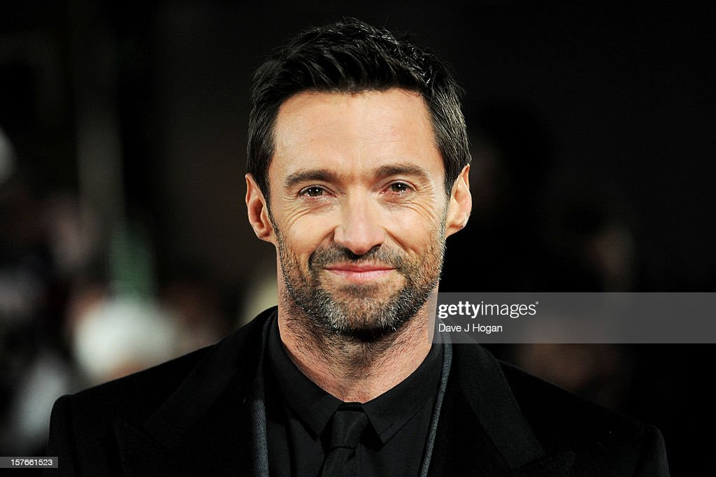 Hugh Jackman attends the world premiere of Les Miserables at The Odeon Leicester Square on December 5, 2012 in London, England.