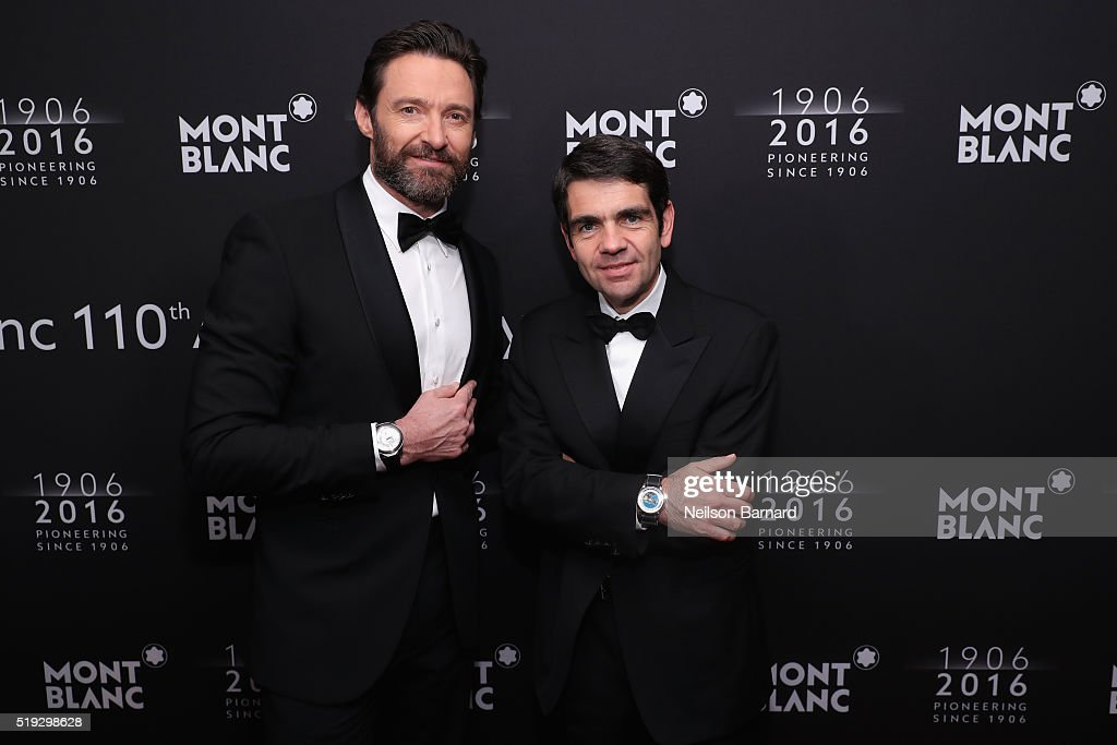 Hugh Jackman Charlotte Casiraghi and Montblanc CEO Jérôme Lambert attend the Montblanc 110 Year Anniversary Gala Dinner on April 5 2016 in New York...